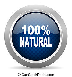 natural blue circle glossy web icon on white background, round button for internet and mobile app