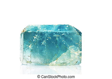 Natural blue topaz crystal - A 12cm crystal of natural blue...