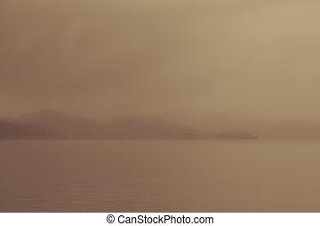 Natural blurred landscape