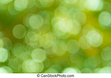 Natural bokeh from the tree background.