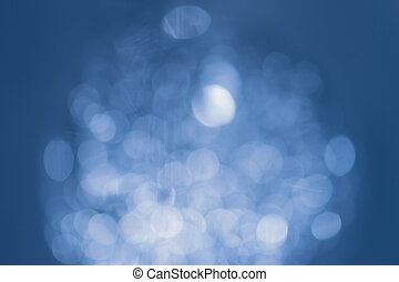 Natural bokeh on blue background