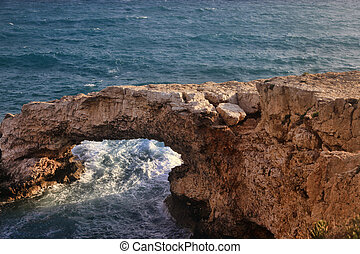Bridge of lovers in Ayia Napa - Natural bridge. Bridge of ...
