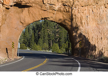 Natural bridge in the Zion national Park