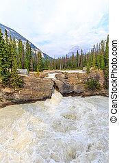 Natural Bridge in Yoho National Park, Alberta Canada