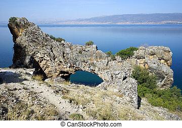 Natural bridge near Egirdir lske, Turkey