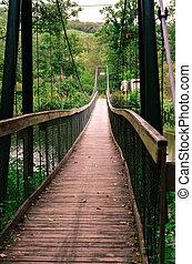 natural bridge over the river