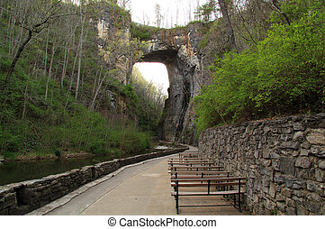 Natural Bridge State Park in the State of Virginia