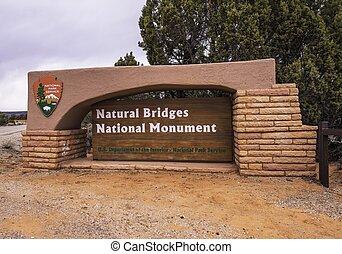 Natural Bridges National Monument in Utah, United States. ...