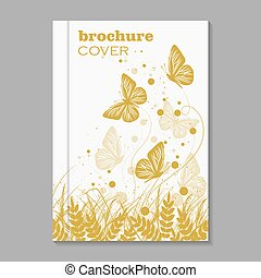 Natural brochure cover design