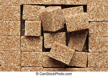 Natural brown sugar cubes