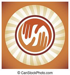 Natural caring hands design. - Natural caring hands design...
