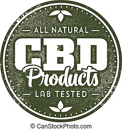 Natural CBD Helathcare Products - Rubber stamp style art for...