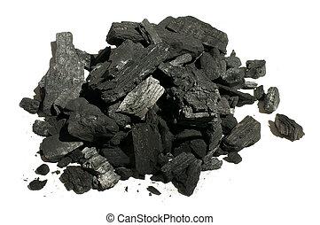 Natural charcoal close up