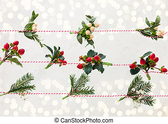 Natural Christmas garlands - Christmas garlands made of...