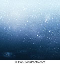 natural, chuvoso, fundos, abstratos, water.