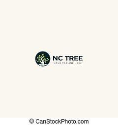 natural circle logo green tree logo finance growth