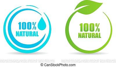 Natural circle vector icon