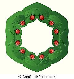 Natural circular frame.
