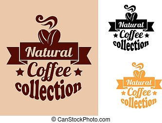Natural coffee banners set