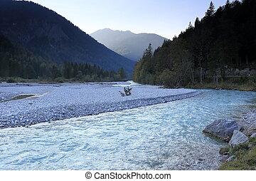 natural cold river in austria