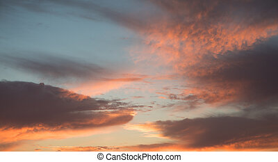 Natural colors of evening sky