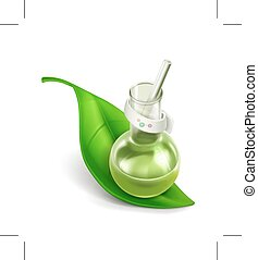 Natural components icon - Natural components vector icon,...