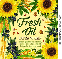 Natural cooking oil and vegetables - Natural oil and ...