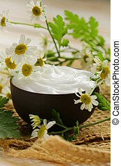natural cosmetic cream lotion