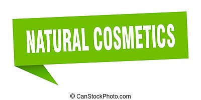 natural cosmetics banner. natural cosmetics speech bubble. ...