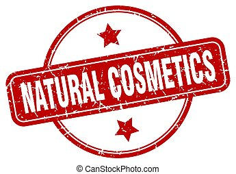 natural cosmetics grunge stamp. natural cosmetics round ...