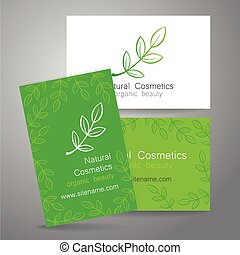 natural cosmetics logo - Natural cosmetics logo. Template ...
