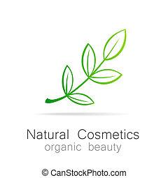 Natural Cosmetics - Organic beauty. Template Logo for cosmetics, spa, beauty salon.