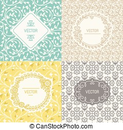 Natural cosmetics packaging - Vector set of design elements...