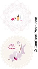 Natural cosmetics products. Labels. Vector illustration