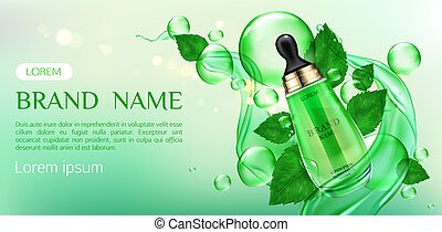 Natural cosmetics skin care cream beauty product