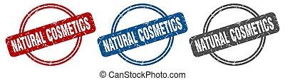 natural cosmetics stamp. natural cosmetics sign. natural ...