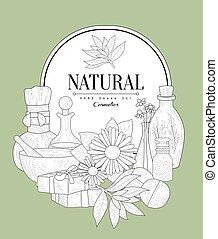 NAtural Cosmetics Vintage Sketch - NAtural Cosmetics Vintage...