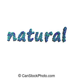 natural create by blue flowers white background