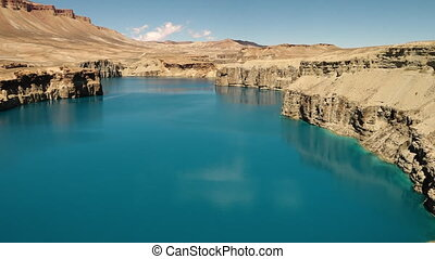 Natural dams on serene freshwater mineral lakes. - Band-e...