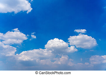Natural daylight and white clouds floating on blue sky
