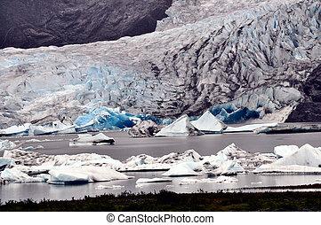 natural de alaska, glaciares