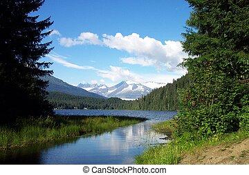 natural de alaska, lago