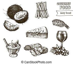 natural, dibujos, productos