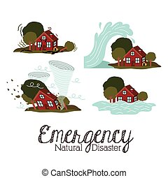 natural disaster design - natural disaster design, vector...