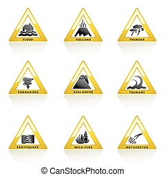 Natural Disaster Icon - illustration of natural disaster...