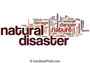 Natural disaster word cloud