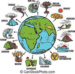 Natural Disasters Infographics - Natural disasters...