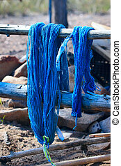 Natural Dyed Yarn - Natural dyed, handspun skeins of yarn,...