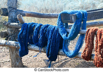 Natural Dyed Yarn - Skeins of naturally dyed handspun yarn...