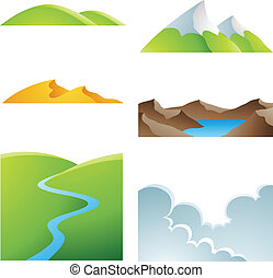 Natural Earth Landscapes - Various earth landscapes and...